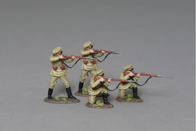 GW096 WW1 Russian Riflemen in Action