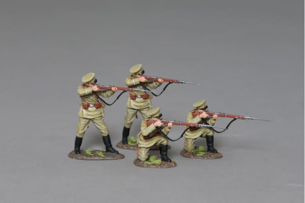 GW096 WW1 Russian Riflemen in Action