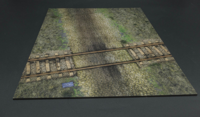 MAT027 Railway Crossing/Cobblestone Mat