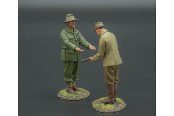 RS064/RS065 Japanese Officer Surrendering to Australian Officer
