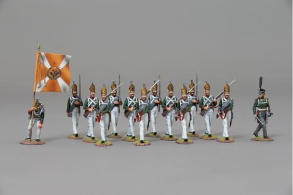 NAP056A Advancing Pavlowski Grenadiers with rifle lowered