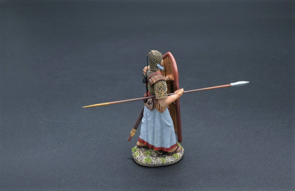 XE008A Advancing Egyptian Marine with Leather Spotted Shield