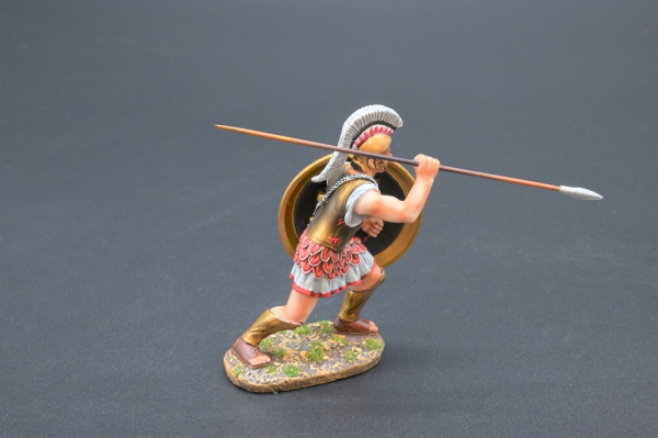 SPA019R Spartan Warrior with Mermaid Shield Design