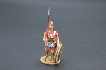 SPA027B Hoplite Sentry with Prancing Lion Shield Design