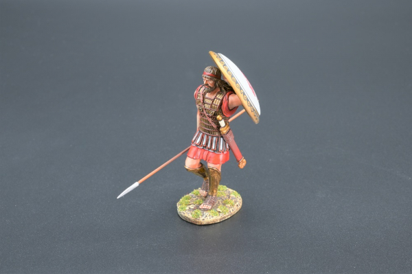 SPA031B Marching Hoplite with Horses Head Shield Design