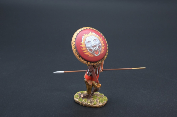 SPA031C Marching Hoplite with Lion Head Shield Design