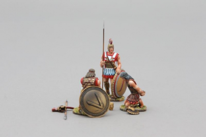 SPA028A Spartan Hoplite with Prisoner (Bronze Lambda Shield)