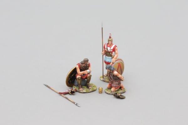 SPA028A Spartan Hoplite with Prisoner (Bronze Lambda Shield)