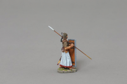 XE009A 2nd Rank Advancing Marine with Red/Yellow Shield